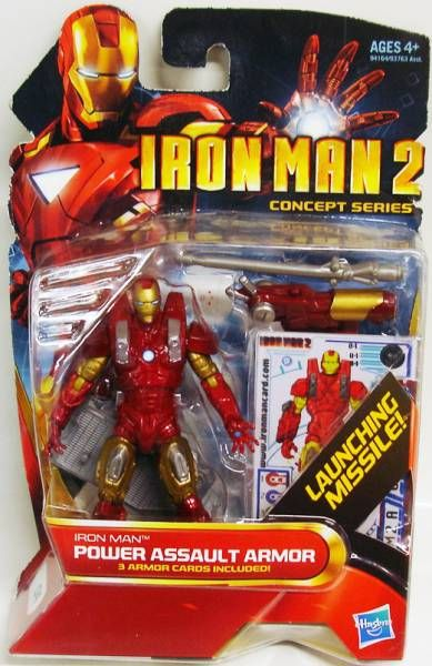 Iron Man 2 - Hasbro - #04 Iron Man Power Assault Armor