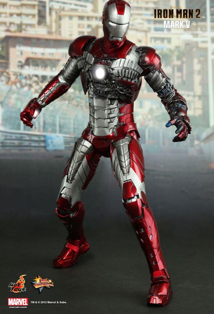 Iron Man 2 - Iron Man Mark V - Figurine 30cm Hot Toys Sideshow MMS 145