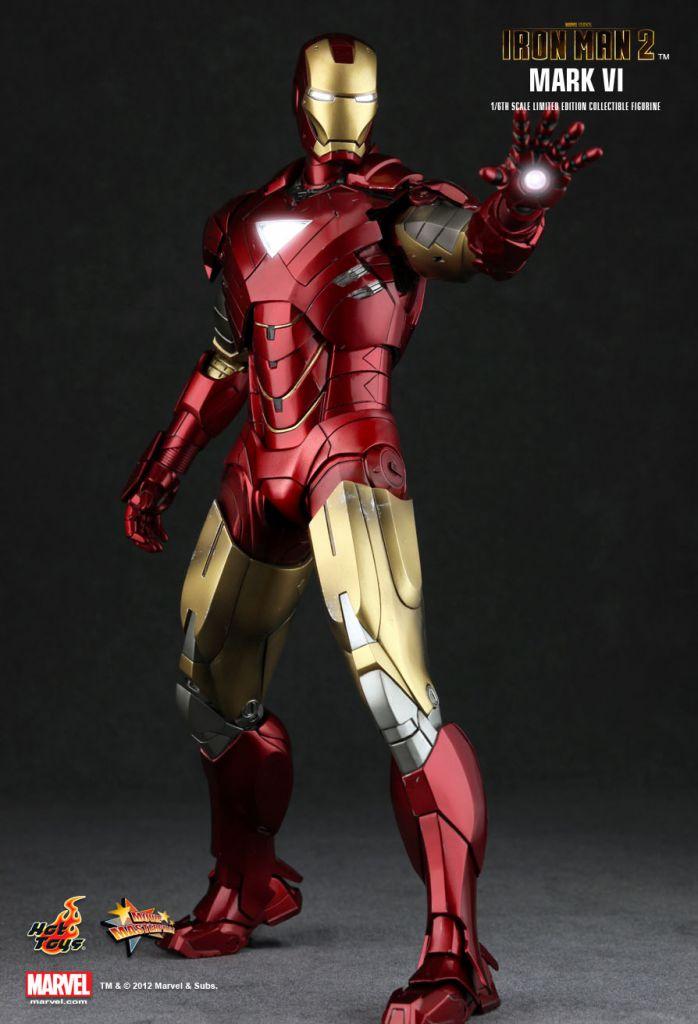Iron Man 2 - Iron Man Mark VI - Figurine 30cm Hot Toys Sideshow MMS 132