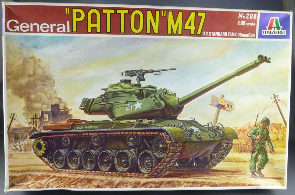 Italaerei - N°208 WW2 General Patton M47 US Tank Mint in Box 1:35
