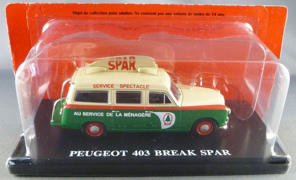 Ixo Hachette Peugeot 403 Station Wagon Spar 1959 Tour de France Advertising Caravan