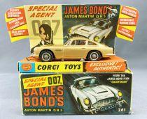 James Bond - Corgi Vintage - Aston Martin DB5 (Réf.261) version dorée