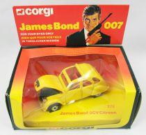 James Bond - Corgi Vintage - Rien que pour vos yeux - Citroen 2cv (Réf.272) Neuve en Boite