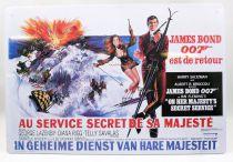 James Bond - Enamel Poster - On Her Majesty\'s Secret Service (french version)
