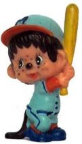 Japanese pvc figure Monchichi baseball bater