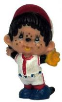Japanese pvc figure Monchichi baseball player