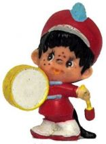 Japanese pvc figure Monchichi drumer