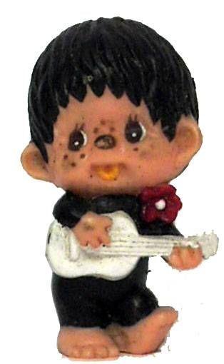Japanese pvc figure Monchichi with guitar