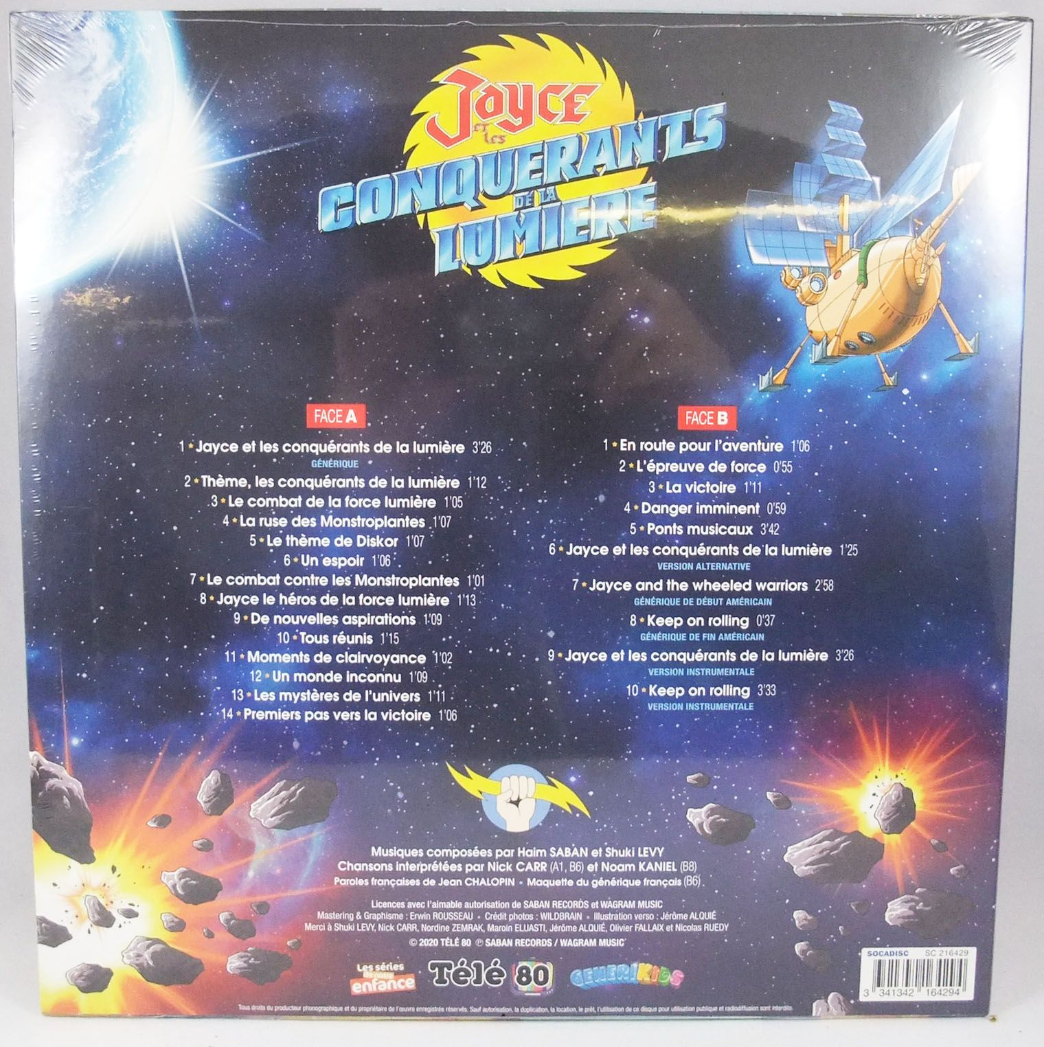 Jayce & the Wheeled Warriors - 33t LP Vinyl disc - Original TV series soundtrack