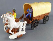 JEAN Jean Hoefler - Far-West - Chariot Baché 2 Chevaux West Germany