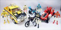 Jetman - Set complet des Véhicules & Figurines Bandai (loose)