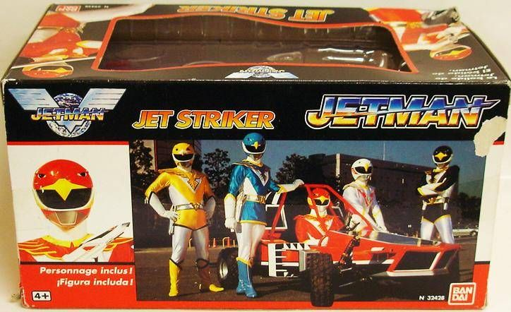 Jetman - Vehicle & Acion Figure Bandai - Jet Striker with Red Falcon