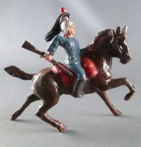 J.F. Le Jouet Fondu - Figurine Plomb Creux 54 mm - Cavalier Cuirassier Carabine
