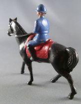 J.F. Le Jouet Fondu - Figurine Plomb Creux 54 mm - Cavalier Officier Défilant casque Adrian