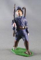 J.F. Le Jouet Fondu - Figurine Plomb Creux 54 mm - Chasseur Alpin Arme à la Bretelle