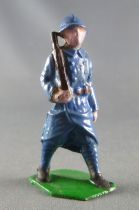 J.F. Le Jouet Fondu - Figurine Plomb Creux 54 mm - Fantassin Bleu Horizon Fusil Epaule