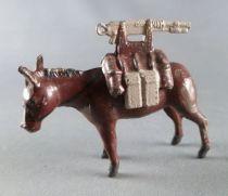 J.F. Le Jouet Fondu - Figurine Plomb Creux 54 mm - Mulet Mitrailleuse 2 Pièces