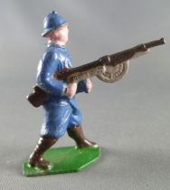 J.F. Le Jouet Fondu - Lead Soldiers 54 mm - French  Infantry Blue Dress MG 3