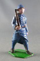 J.F. Le Jouet Fondu - Lead Soldiers 54 mm - French  Infantry Blue Dress Rifle Shoulder