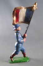 J.F. Le Jouet Fondu - Lead Soldiers 54 mm - French  Infantry Blue Flag Holder