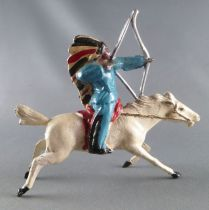 J.F. Le Jouet Fondu - Lead Soldiers 54 mm - Indian Mounted Firing Bow