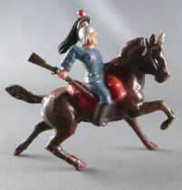 J.F. Le Jouet Fondu - Lead Soldiers 54 mm - Mounted Cuirassier with Rifle