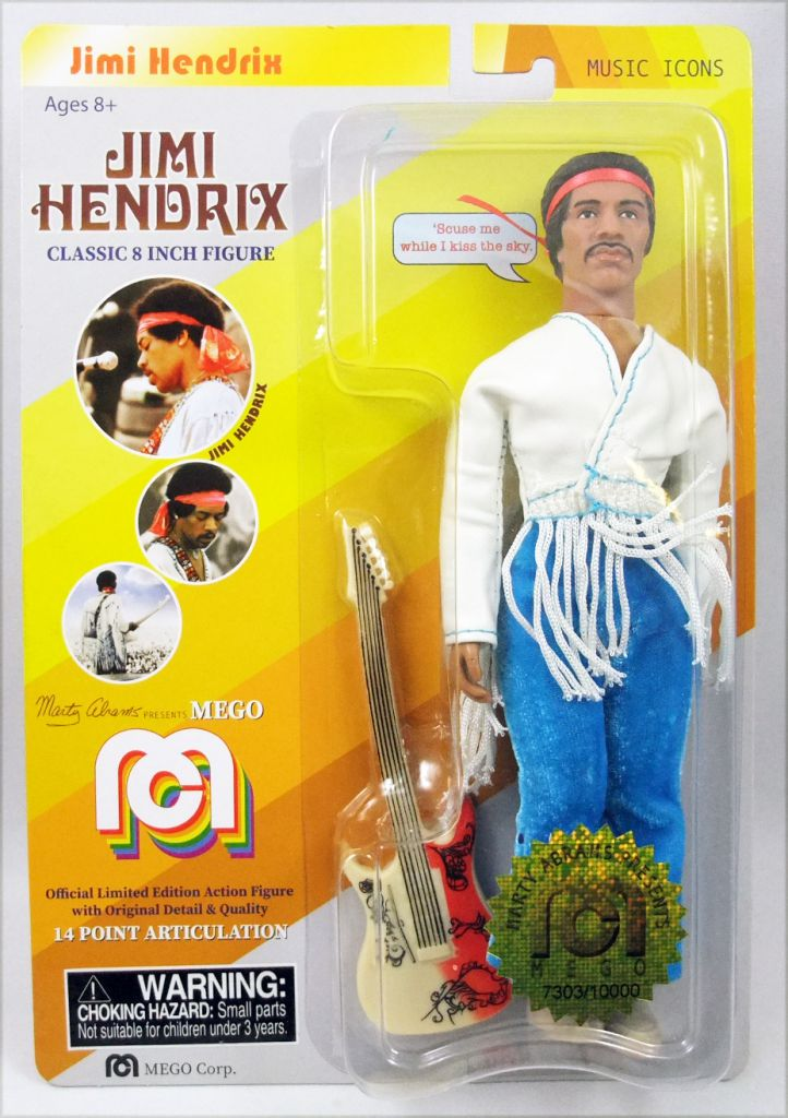 "Jimi Hendrix - Mego - \""Music Icons\"" 8\"" action figure"