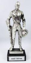 "John Wayne - 7\"" die-cast métal statue - Daviland France 1978"