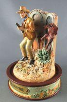 John Wayne - Franklin Mint Glass Dome Sculpture - Both Hands on Rifle
