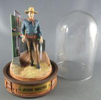 John Wayne - Franklin Mint Glass Dome Sculpture - Descending the Street Rifle in Hand