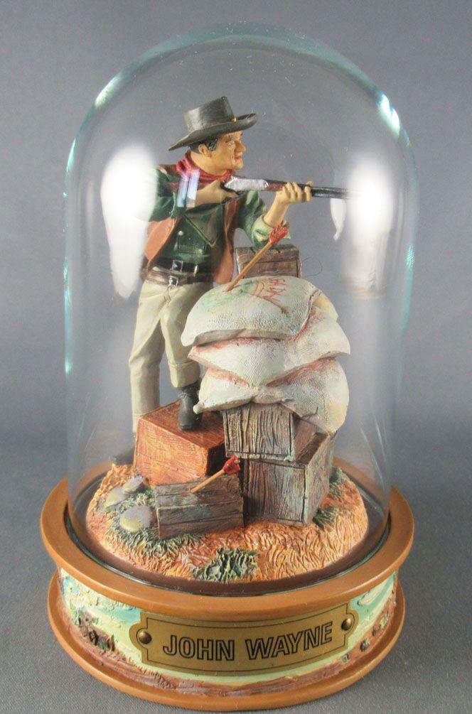John Wayne - Franklin Mint Glass Dome Sculpture - Firing Rifle
