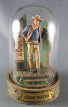 John Wayne - Franklin Mint Glass Dome Sculpture - Leaving the Saloon