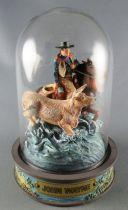 John Wayne - Franklin Mint Glass Dome Sculpture - Mounted Cow-boy Livestock