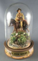 John Wayne - Franklin Mint Glass Dome Sculpture - Mounted Rider of the Plain\'s