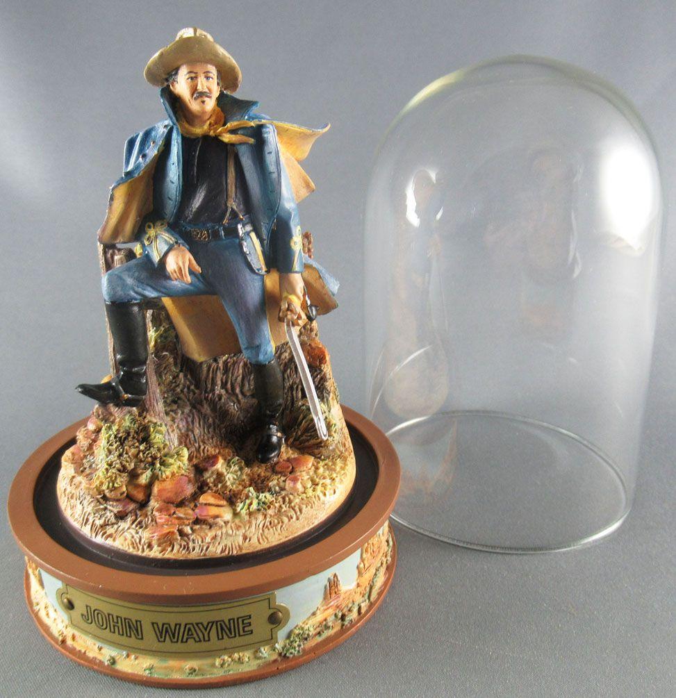 John Wayne - Franklin Mint Glass Dome Sculpture - US Cavalry Officer Canopy