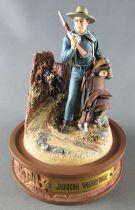 John Wayne - Franklin Mint Glass Dome Sculpture - US Cavalry Rifle & Saddle