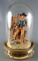 John Wayne - Statuette Résine Globe Verre Franklin Mint - Alamo