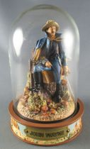 John Wayne - Statuette Résine Globe Verre Franklin Mint - Cavalerie US Officier Capote