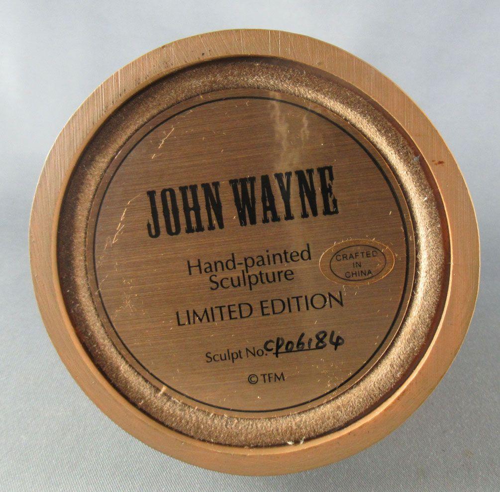 John Wayne - Statuette Résine Globe Verre Franklin Mint - Cavalerie US