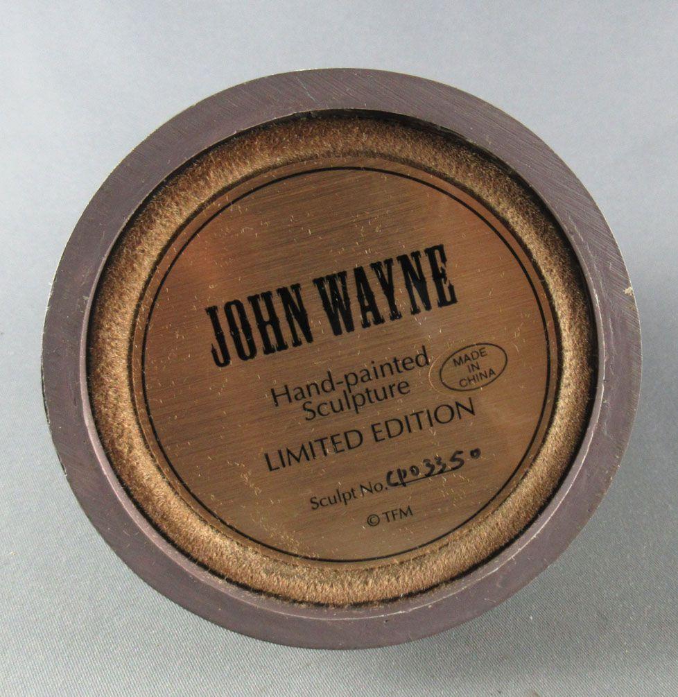 John Wayne - Statuette Résine Globe Verre Franklin Mint - Cavalier Cow-boy Bétail