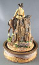 John Wayne - Statuette Résine Globe Verre Franklin Mint - Cavalier des Plaines