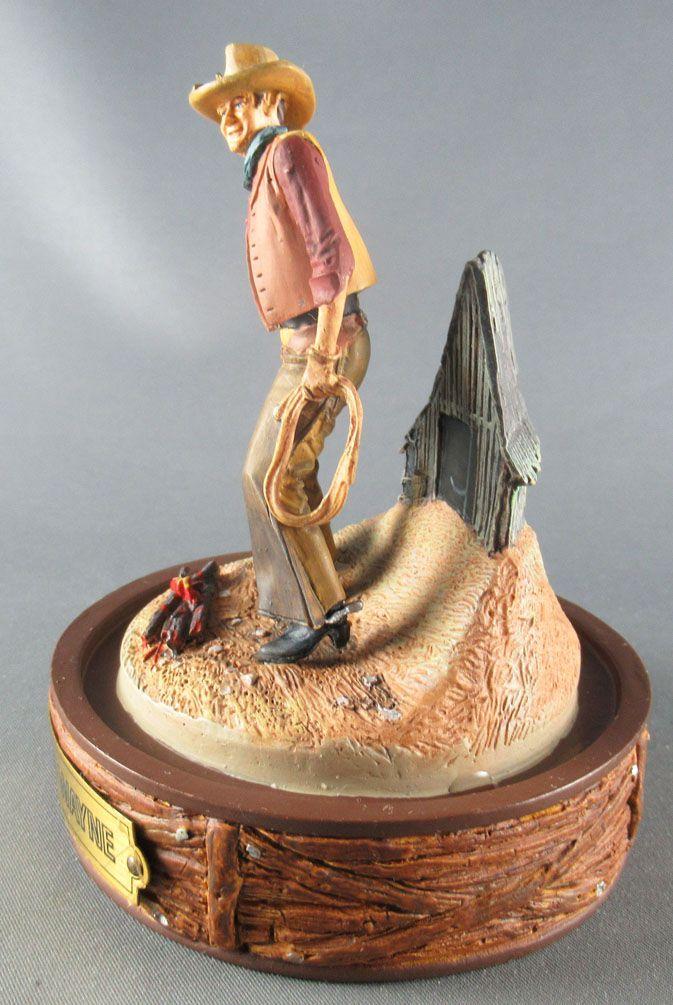 John Wayne - Statuette Résine Globe Verre Franklin Mint - Marquage du Bétail