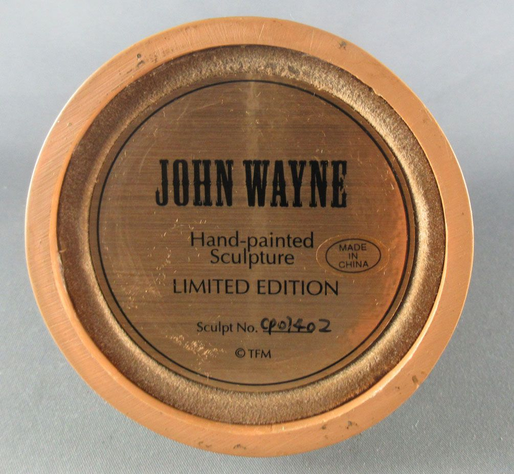 John Wayne - Statuette Résine Globe Verre Franklin Mint - Tireur Carabine