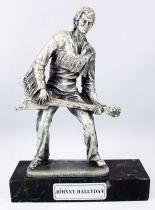 "Johnny Hallyday - 6\"" die-cast métal statue \""Johnny Rock\'n Roll\""- Daviland France 1978"