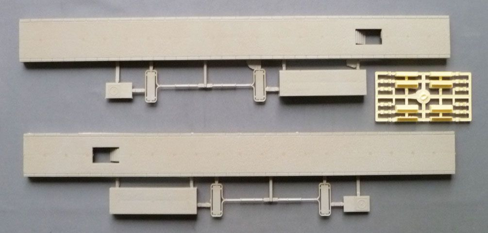 Jouef 1018 Ho Sncf 2 Large Plateforms Light Grey for Station and also for Glass Roof Mint no Box