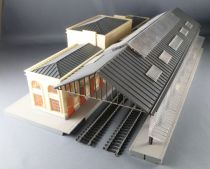 Jouef 1020 Ho Sncf Large Station with plateform & Glass roof
