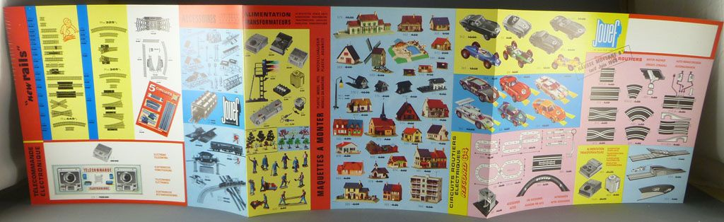 Jouef 1968 Folded Catalogue Steam Locos Coaches Slot Car Mint condition