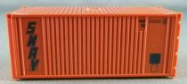 Jouef 2631C Ho Sncf 1 x 20 Feet Sanav (brown) Container Very Good Condition