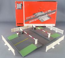 Jouef 2675 Ho Sncf Hand Operating Crossing Level 1 Track Double Ways Road Red Box