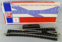 Jouef 4084 Ho 1 Hand Control Point turn right 22°30 R 385 Steel Tracks with Tricolor Box